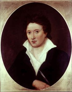 Portrait of Percy Bysshe Shelley, painted by Amelia Curran, and photographed by Alfred Clint. I mage is in the public domain.